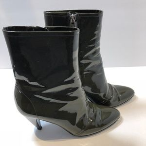 SIGERSON-MORRISON Olive Patent Leather Size 6.5